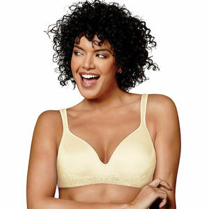 Playtex Pearl Side Smooth Lace Petals Bra US0002